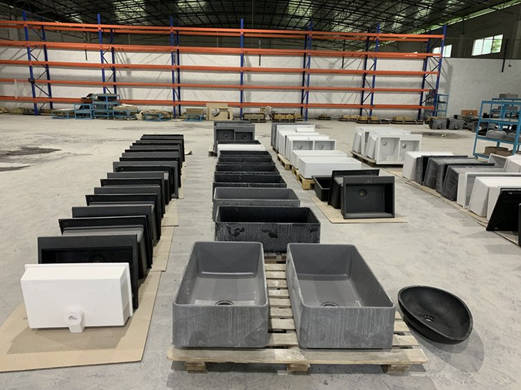 Three Different Production Processes Of Granite Composite Sinks