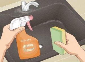 cleaning granite sink